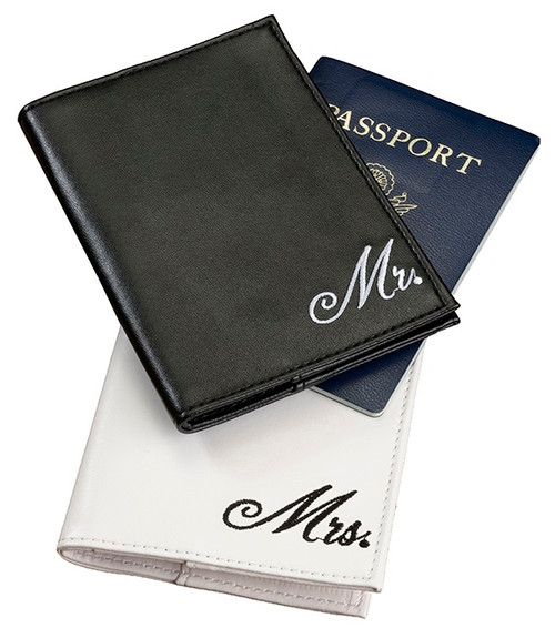 Wedding Mr and Mrs Passport Covers Bride Groom Gift Idea