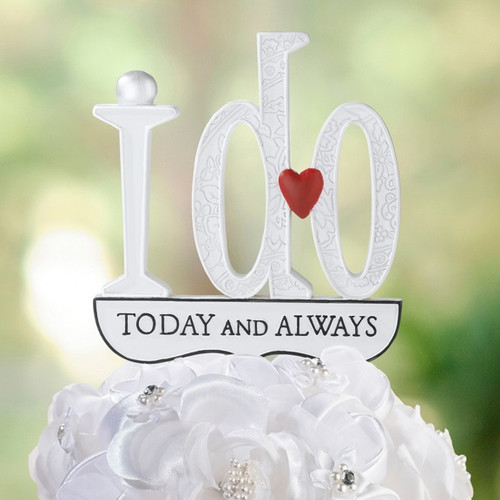 Wedding I Do Cake Topper Pick Reception Decoration