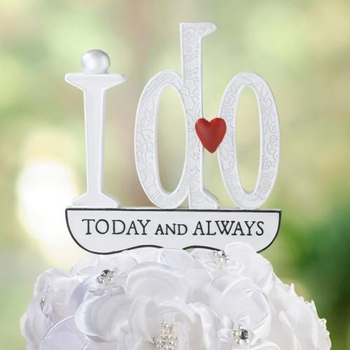 Wedding I Do Cake Topper Pick Reception Decoration