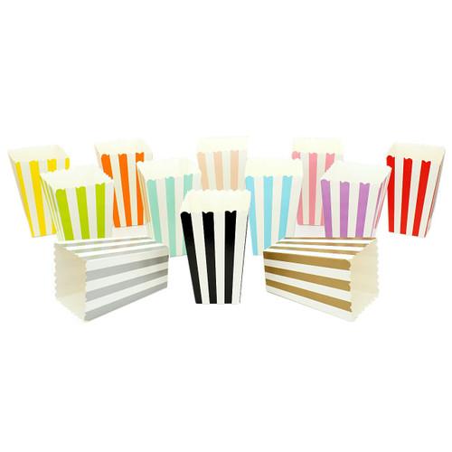 Wedding Striped Popcorn Reception Favour Boxes