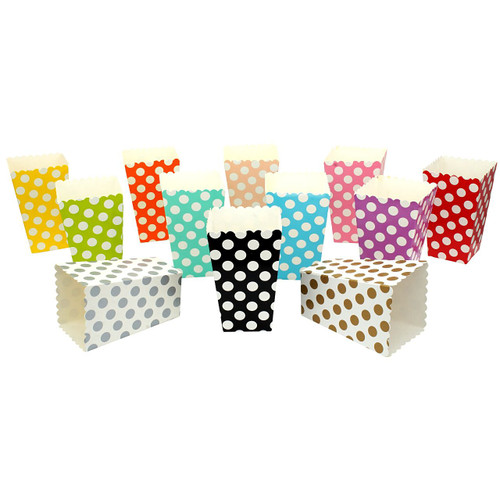 Wedding Polka Dot Popcorn Reception Favour Boxes