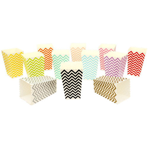 Wedding Chevron Mini Popcorn Reception Favour Boxes