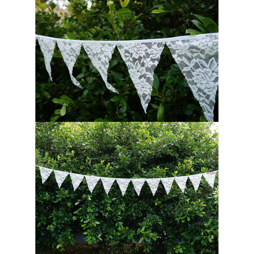 Wedding Lace Bunting Hanging Decoration
