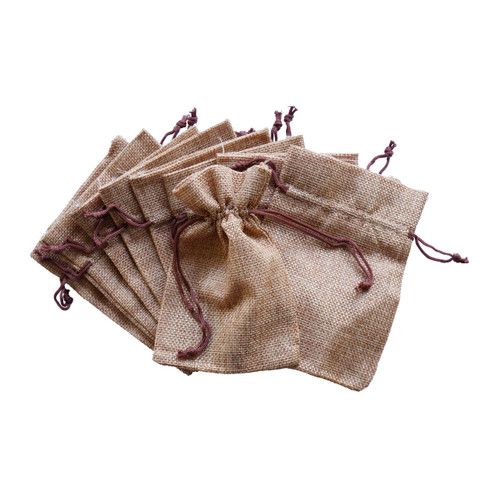 Wedding Hessian Burlap Favour Bags Reception Table Decor
