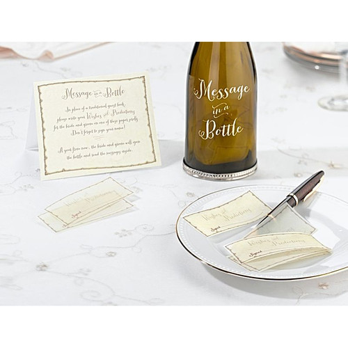 Wedding Message Signing Wish Papers for Message in a Bottle Reception Decorations