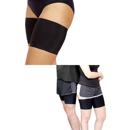 Black Bandelettes Anti Chafing Unisex Thigh Bands Accessory