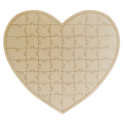 Wedding Heart Shaped Wooden Jigsaw Guest Book Alternative Reception Decoration