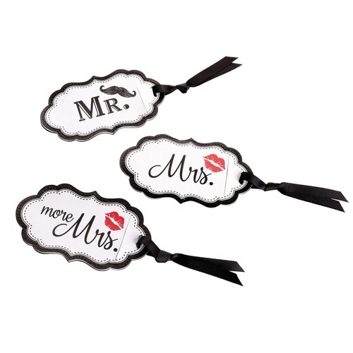 Wedding Mr and Mrs Luggage Tags Bride and Groom Honeymoon Gift Idea