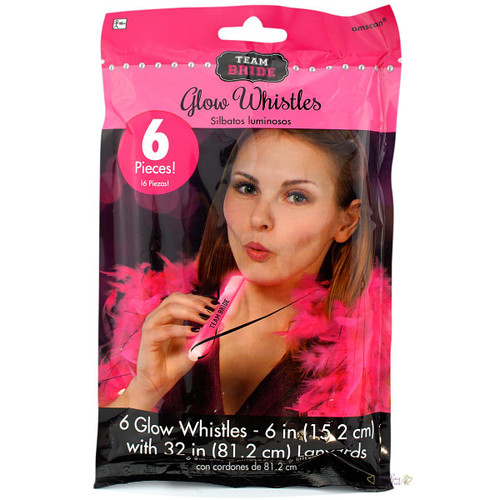 Team Bride Glow Whistles Hens Night Party Novelty