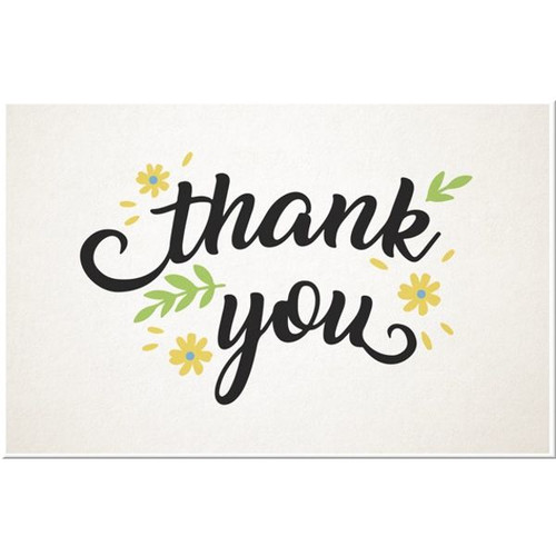 Floral Thank You Favour Tags