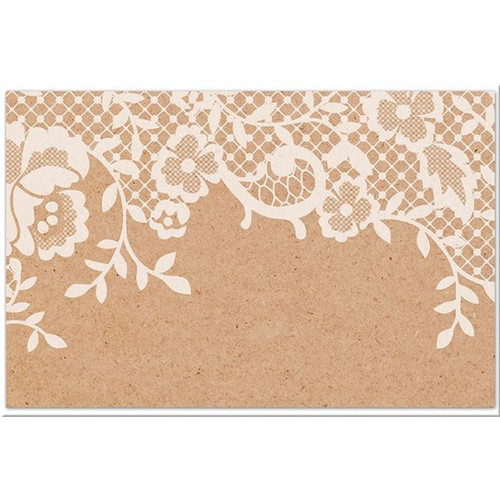 Kraft Lace Thank You Favour Tags
