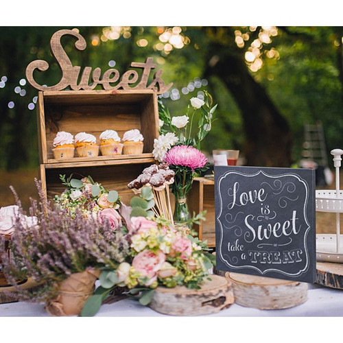 Love is Sweet Take a Treat Wedding Sign