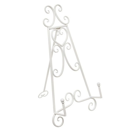 White Metal Table Easel Stand