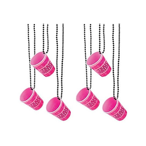 Team Bride Shot Glass Necklaces x 6 Hens Night Accessory Favour Gift