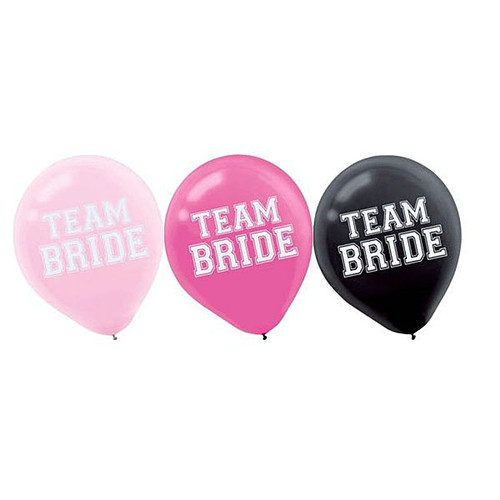 15 x Team Bride Hens Night Party Balloons