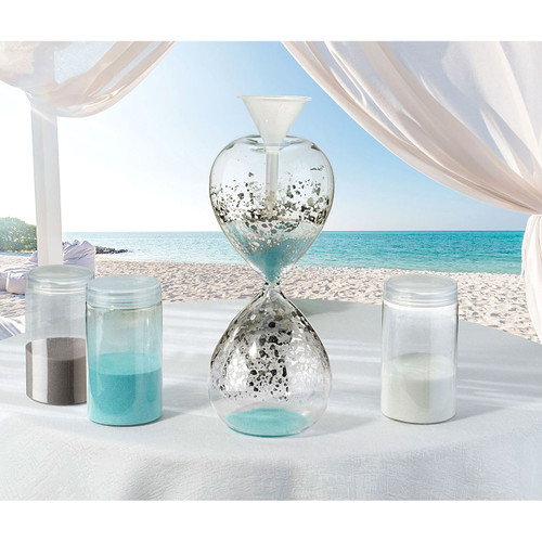 Hour Glass Sand Unity Ceremony Vase