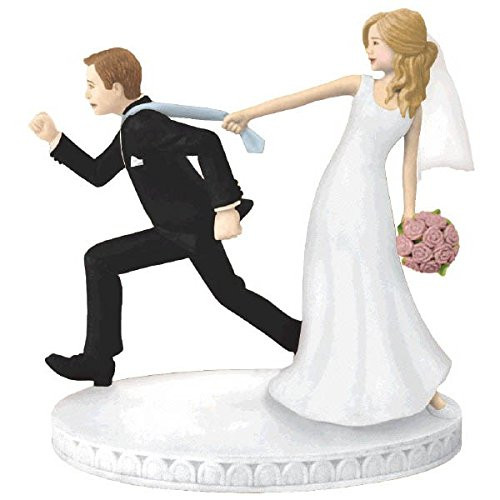 Bride and Runaway Groom Figurine Cake Topper Reception Decoration