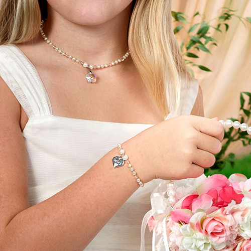 55fcf24aa Will You Be My Flower Girl Necklace and Bracelet Gift Set
