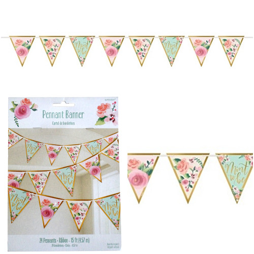Mint To Be Pennant Bunting Banner Hanging Decorations