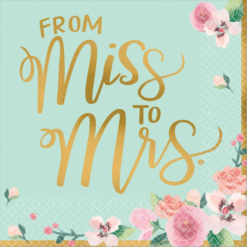 From Miss to Mrs Bridal Shower Napkins