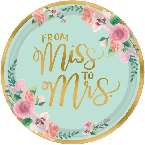 From Miss to Mrs Bridal Shower Plates