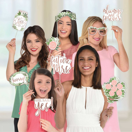 Bridal Shower or Hens Night Photo Booth Props Love and Leaves