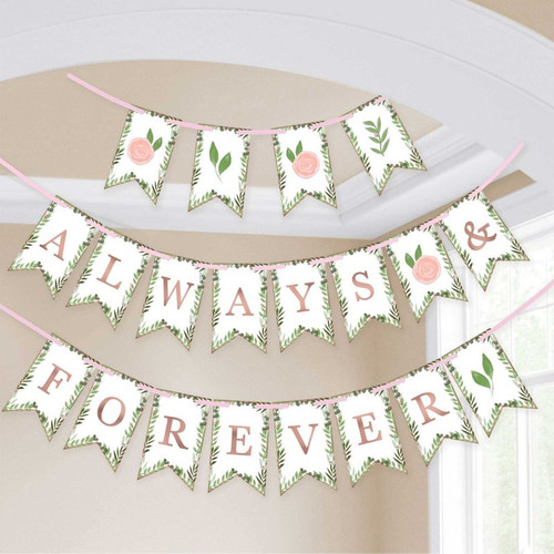 Always and Forever Bunting Banner Hanging Decoration