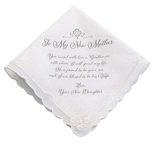 For My New Mother Wedding Handkerchief Gift