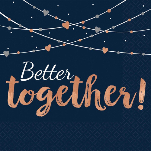 Better Together Navy Beverage Napkins