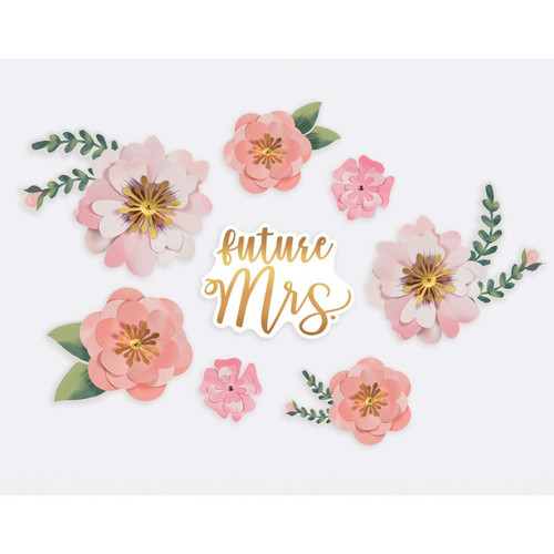 Future Mrs Paper Flower Backdrop Decoration Kit