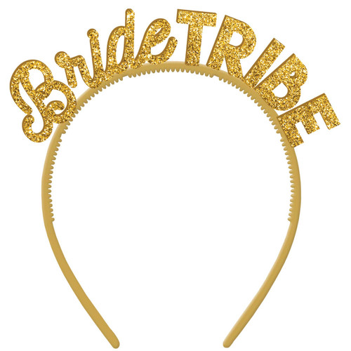 Bride Tribe Glitter Headbands