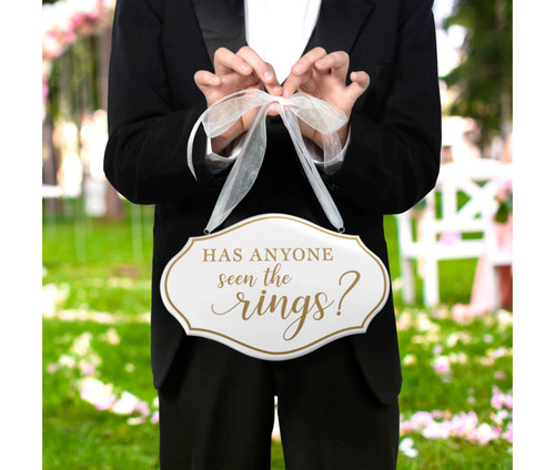 Has Anyone Seen the Rings Wedding Ceremony Sign