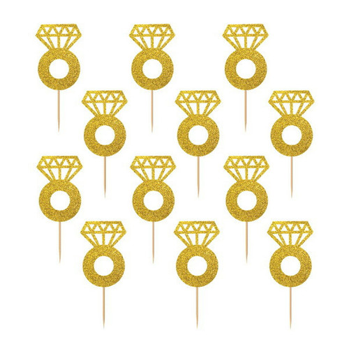 Diamond Ring Cupcake Picks