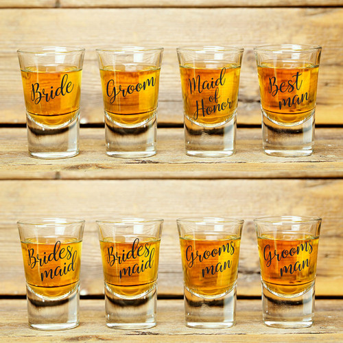 Wedding Shot Glasses Set Bridal Party Favour Gifts