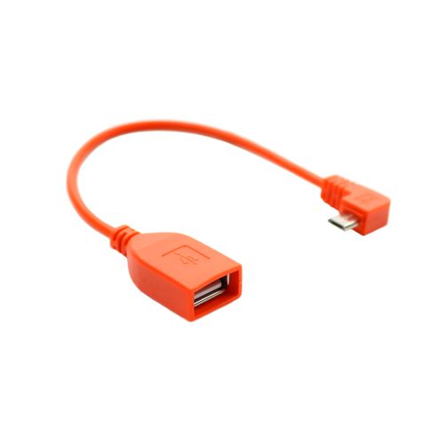 USB Female A to Micro USB Adapter - Orange