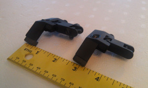 Flip-Up Sight Set.  45 degree offset.  Aluminum-bodied.  Shown flipped down.