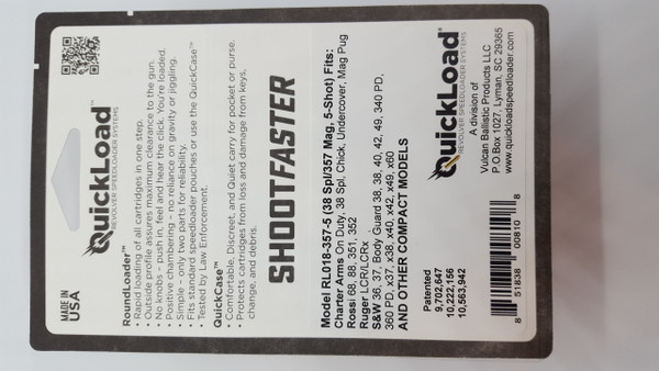 CP005-357-5 (38 cal, 5-shot) QuickLoad(R) RoundLoader(TM) Combo Pack w/ RL018-357-5