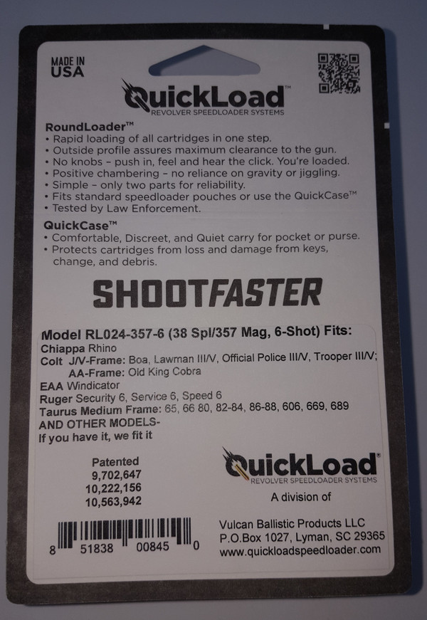 CP015-357-6 (38 cal 6-shot) QuickLoad(R) RoundLoader(TM) Combo Pack w/ RL024-357-6
