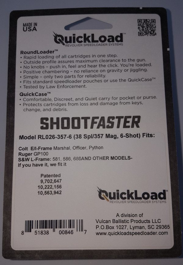 CP017-357-6 (38 cal 6-shot) QuickLoad(R) RoundLoader(TM) Combo Pack w/ RL026-357-6