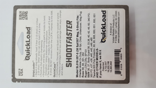 CP001-357-5 QuickLoad(R) StripLoader(TM) Combo Pack (5-shot) (1) SL018-357-5 and (1) SQC20-357-5