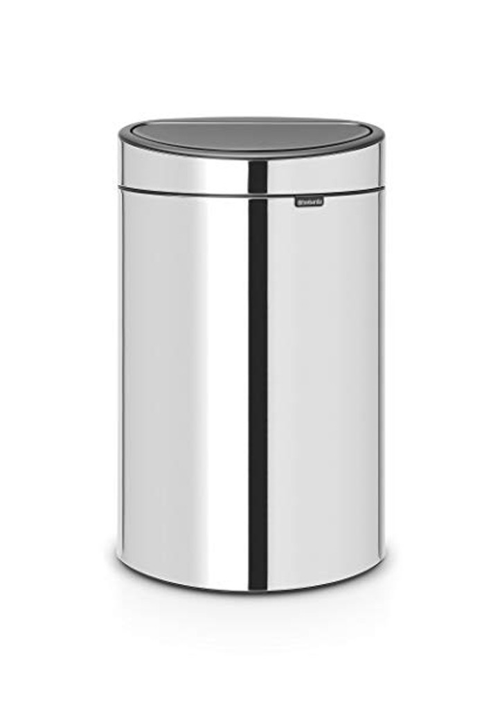 Brabantia Touch Bin 40 litre Plastic Bucket - Brilliant Steel