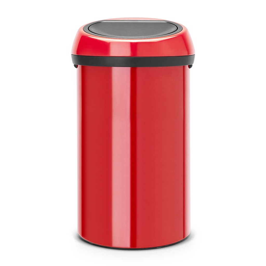Brabantia Touch Bin 60 litre - Passion Red / Passion Red Lid