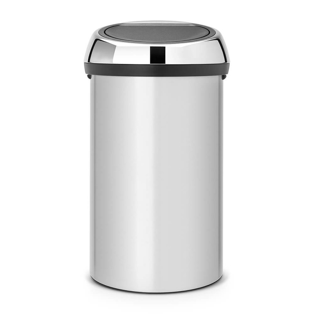 Brabantia Touch Bin 60 litre - Metallic Grey / Brilliant Steel Lid