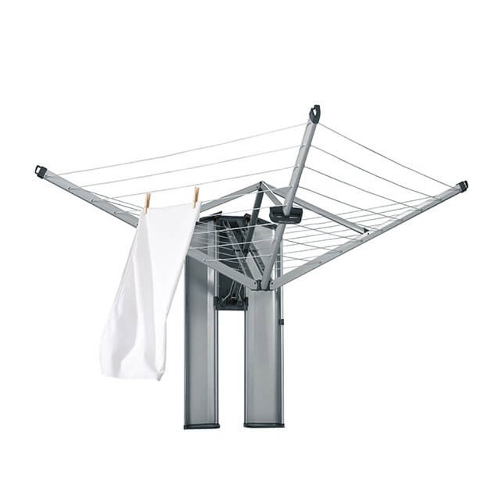 Brabantia WallFix Wall-mounted dryer 24 metres - WallFix Wall-mounted Dryer 24m with Protection / Storage Box