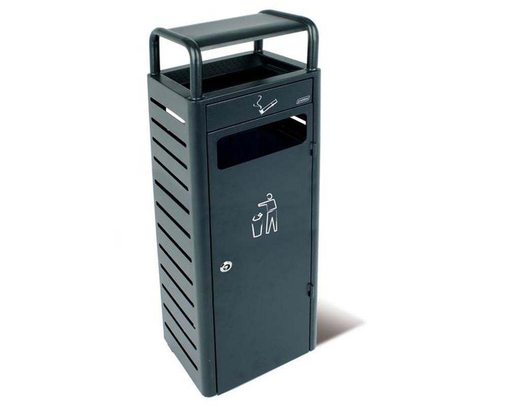 Probbax Stand Alone Ash/Trash Container (With 3,3 + 24L Liners) - Dark Grey