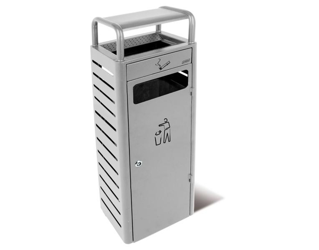 Probbax Stand Alone Ash/Trash Container (With 3,3 + 24L Liners) - Silver