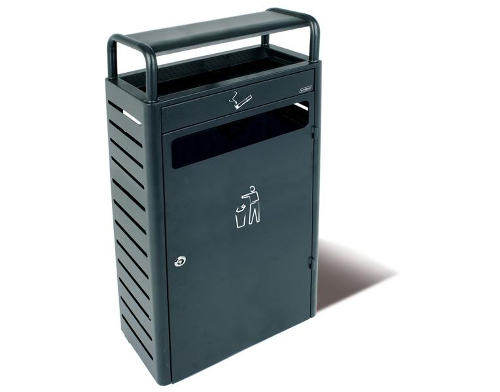Probbax Stand Alone Ash/Trash Container (With 5,9 + 43L Liners) - Dark Grey