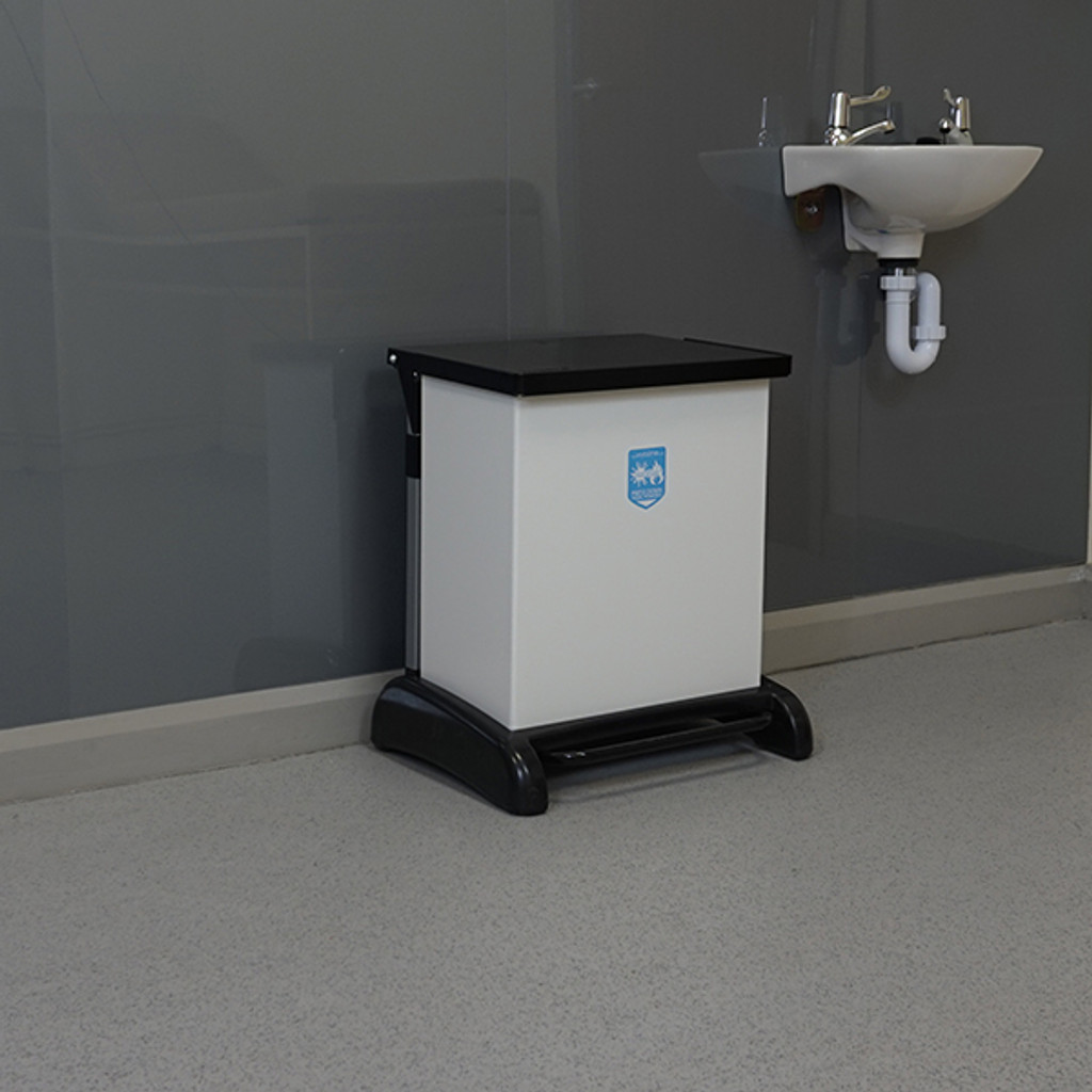 Wybone 42 Litre Hybrid, Pedal Operated Sackholder With A Removable Plastisol Body And Integrated Castors