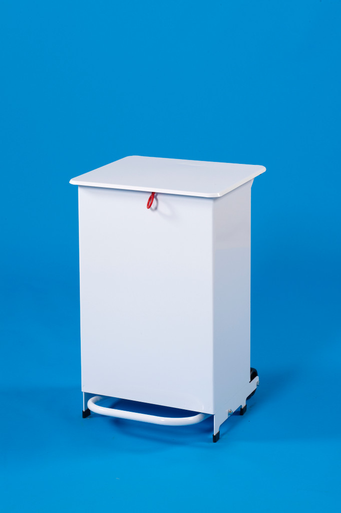 Linton Enclosed Body Sackholder Standard Lid - Pedal & Hand Operated 50L