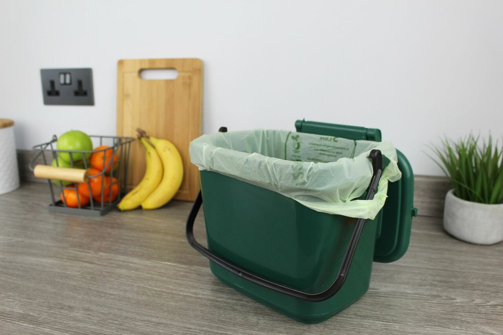 All-Green Caddy Company Tie-Handle Compostable Kitchen Caddy Bags - 5 Ltr